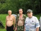 Владимир UA3PKJ, Виталий Колокольников RA3PCA и Колокольников старший.