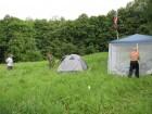 Самое трудное - найти место для палатки.