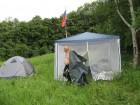 Ставим палатки...