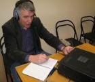 Сергей RX3AKT с удовольствием рассказывал об антеннах, используемых для проведения QSO из Политехнического музея. HI
