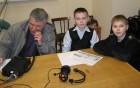Сергей RX3AKT и юные операторы RK3CQ - Константин и Владислав.