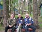 Отличное настроение у: Сергея R2AKC, Михаила RW3ATR и Алексея RA3AKF.