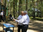 Вручение памятных дипломов - RA3AKM и UA3GC
