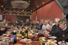 Новогодний праздничный стол и участники Встречи московских радиолюбителей
