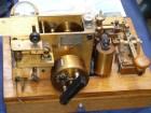 Экспонат из коллекции Александра Мащукова R3AA - ленточный телеграфный аппарат, выпущенный на электромеханическом заводе им. Ф.Э. Дзержинского .