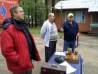 Владимир R3HD, Александр R3AA и Геннадий RZ3CC на 6-ом слёте московских радиолюбителей.